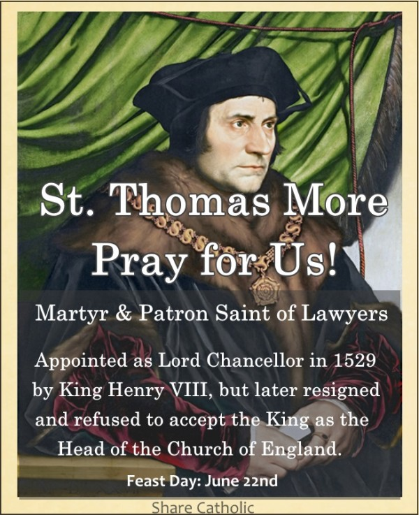 St. Thomas More Pray for us