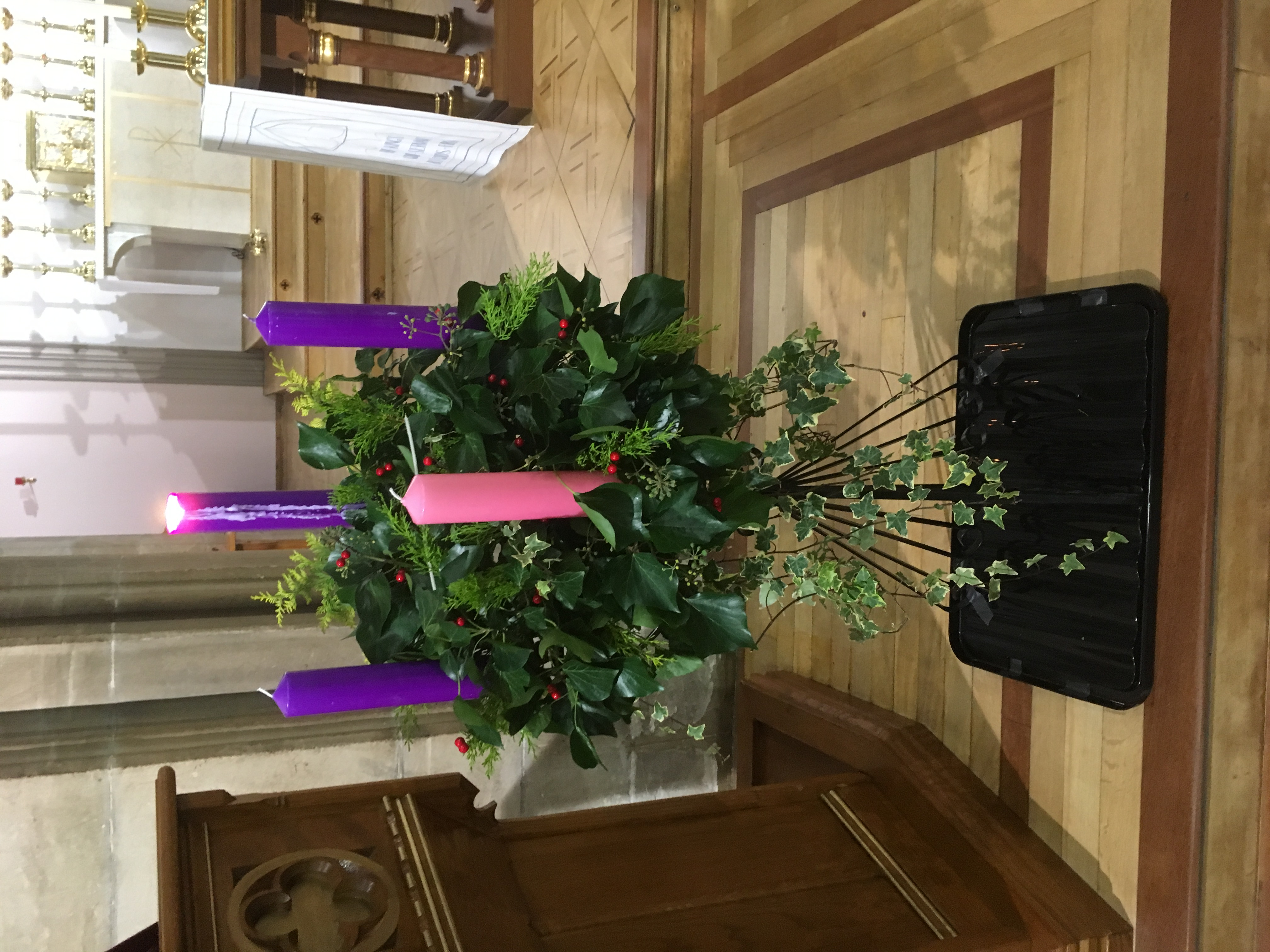 Advent Wreath with the Prophet's candle lit
