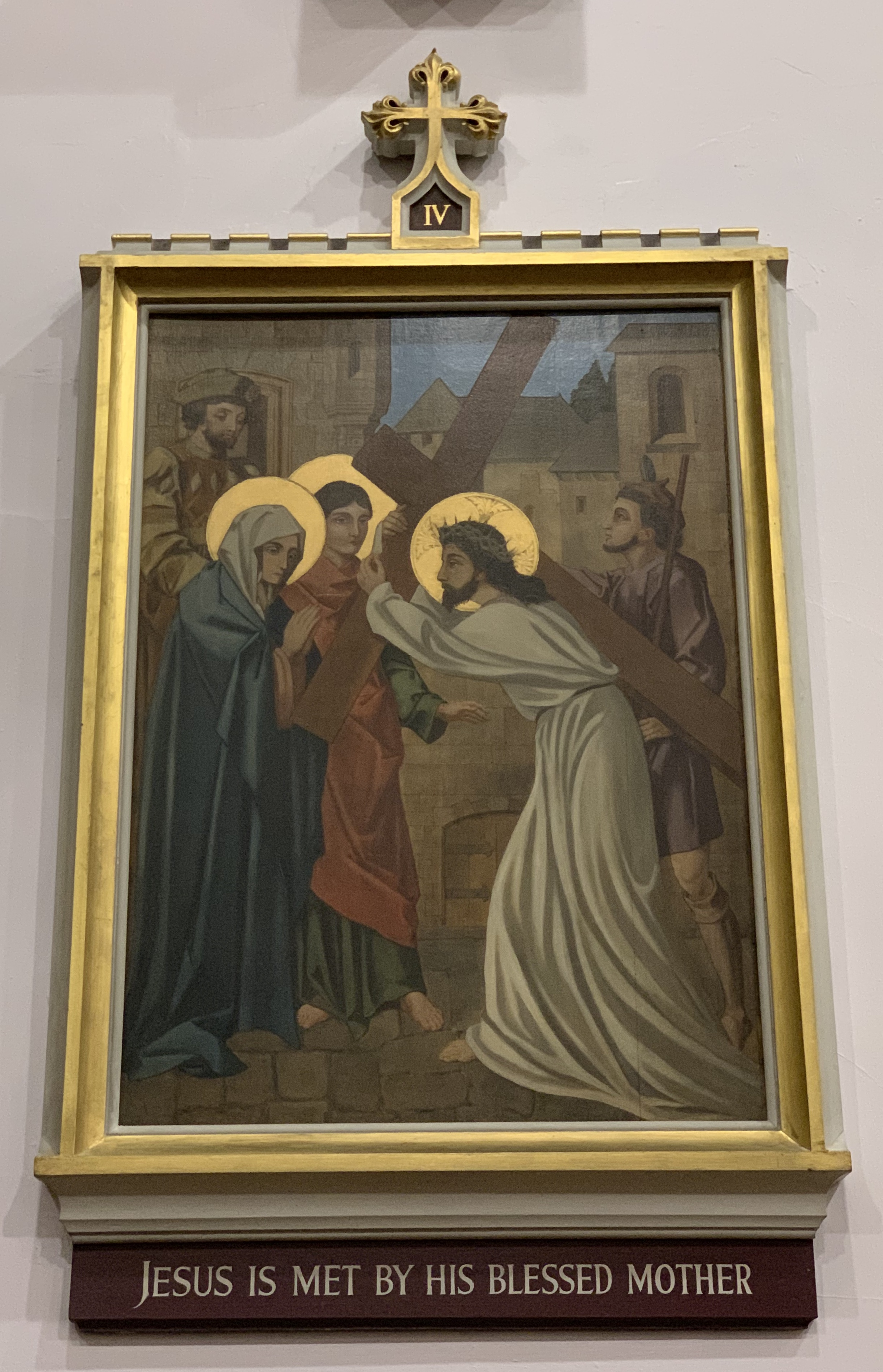IV. Jesus is met by his blessed mother